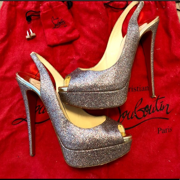 ccecf619176 Christian Louboutin Lady Peep Sling 150mm Size 39